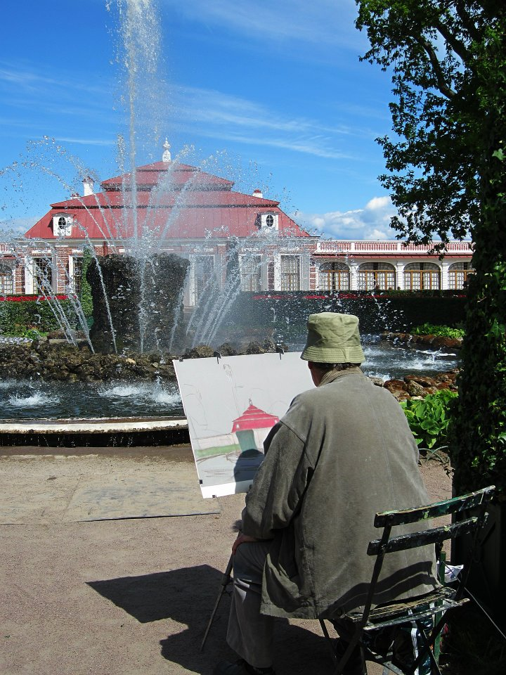 Caregiver Stress Relief Photo Painter in the Park