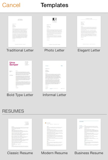 Pages App Features Templates for Resumes, Letters: Caregiverlist Senior Care App Review