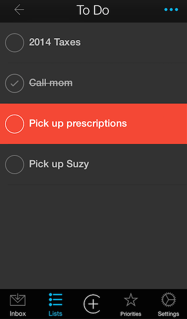 Organize and Prioritize To Do Lists and Tasks In One App