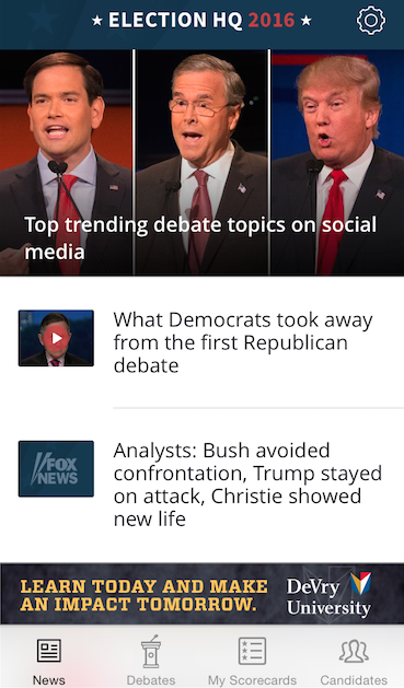 2016 Election Coverage from Fox News App