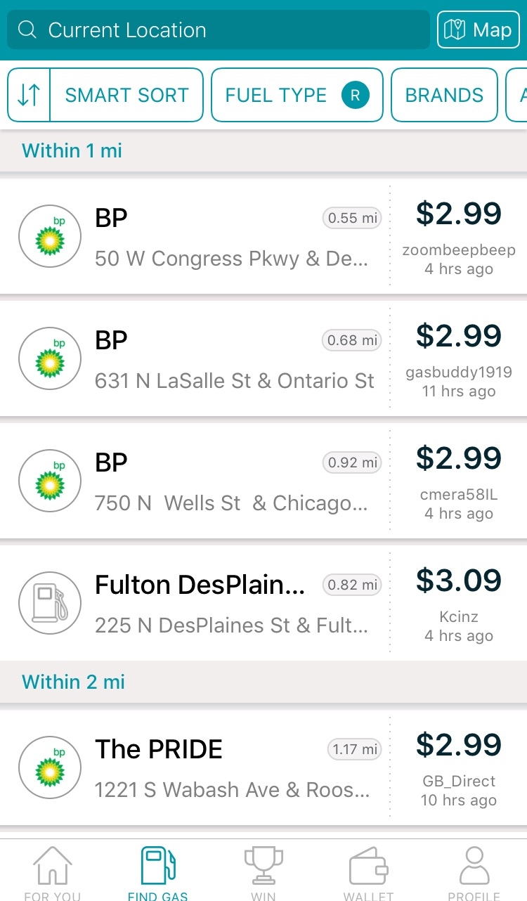 GasBuddy App Provides Cost Comparison For Caregivers