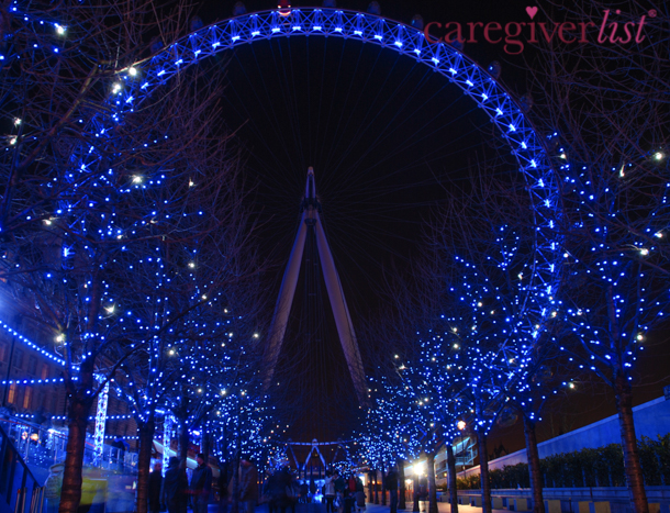 Nighttime Sparkle in London: Stress Relief Photo