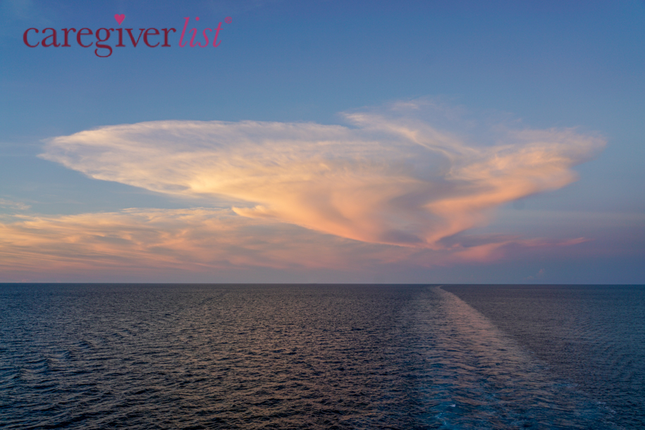 Sunset at Sea: Stress Relief Photo