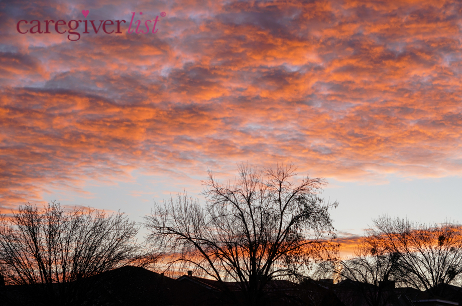 Colorful Sunrise for Caregiver Stress Relief