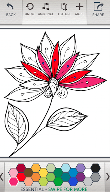 Adult Coloring App Provides Caregiver Stress Relief