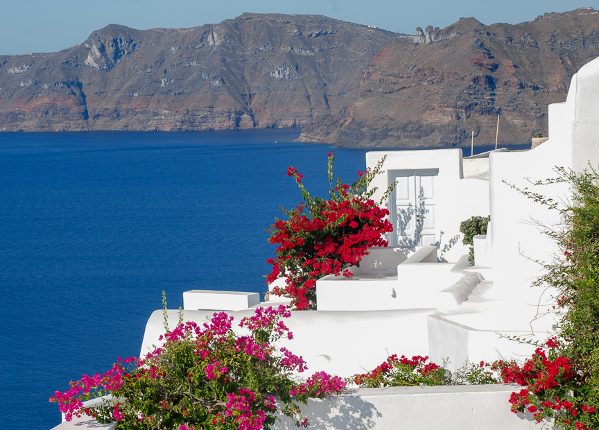 Caregiver Stress Relief:  Relaxing in Santorini
