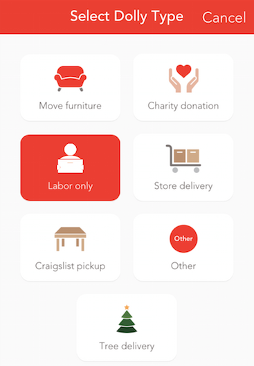 Caregivers May Move Furniture and Request Manual Labor in Dolly App