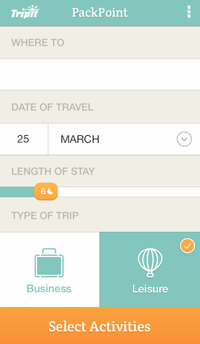 Remember to Pack Everything for a Trip with List App